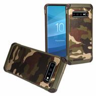 Tough Anti-Shock Hybrid Case for Samsung Galaxy S10 Plus - Camouflage