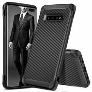 Tough Anti-Shock Hybrid Case for Samsung Galaxy S10 Plus - Carbon Fiber