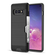 ID Card Slot Hybrid Case for Samsung Galaxy S10e - Black