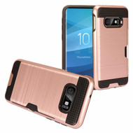 ID Card Slot Hybrid Case for Samsung Galaxy S10e - Rose Gold