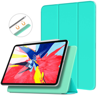 *FINAL SALE* Magnetic Attached Smart Leather Cover with Auto Sleep/Wake for iPad Pro 11 inch - Baby Blue