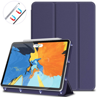 *SALE* Magnetic Attached Smart Leather Cover with Auto Sleep/Wake for iPad Pro 11 inch - Navy Blue
