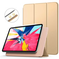 *FINAL SALE* Magnetic Attached Smart Leather Cover with Auto Sleep/Wake for iPad Pro 11 inch - Gold