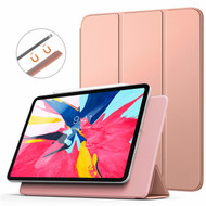 *FINAL SALE* Magnetic Attached Smart Leather Cover with Auto Sleep/Wake for iPad Pro 11 inch - Rose Gold