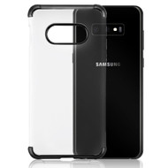 Klarion Crystal Clear Tough Case for Samsung Galaxy S10e - Black