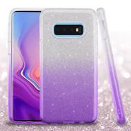 Full Glitter Hybrid Protective Case for Samsung Galaxy S10e - Gradient Purple