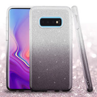 Full Glitter Hybrid Protective Case for Samsung Galaxy S10e - Gradient Black
