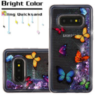 Quicksand Glitter Transparent Case for Samsung Galaxy S10e - Butterfly Dancing