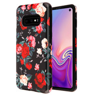 Fuse Slim Armor Hybrid Case for Samsung Galaxy S10e - Red and white Roses