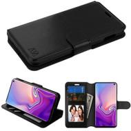 Book-Style Leather Folio Case for Samsung Galaxy S10e - Black