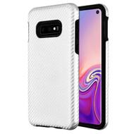Carbon Fiber Hybrid Case for Samsung Galaxy S10e - Silver