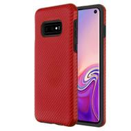 Carbon Fiber Hybrid Case for Samsung Galaxy S10e - Red