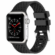 Sport Band Watch Strap with Compression Molded Perforations for Apple Watch 44mm / 42mm - Black