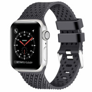 Sport Band Watch Strap with Compression Molded Perforations for Apple Watch 44mm / 42mm - Dark Grey