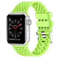 Sport Band Watch Strap with Compression Molded Perforations for Apple Watch 44mm / 42mm - Green