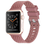 Sport Band Watch Strap with Compression Molded Perforations for Apple Watch 44mm / 42mm - Mauve