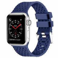 Sport Band Watch Strap with Compression Molded Perforations for Apple Watch 44mm / 42mm - Navy Blue