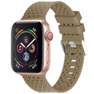 Sport Band Watch Strap with Compression Molded Perforations for Apple Watch 44mm / 42mm - Olive