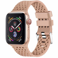 Sport Band Watch Strap with Compression Molded Perforations for Apple Watch 44mm / 42mm - Tan