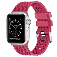 Sport Band Watch Strap with Compression Molded Perforations for Apple Watch 44mm / 42mm - Raspberry