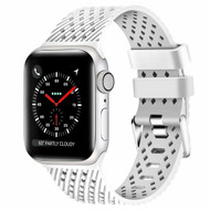Sport Band Watch Strap with Compression Molded Perforations for Apple Watch 40mm / 38mm - White