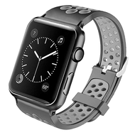 Perforated Sport Band Watch Strap for Apple Watch 44mm / 42mm - Black Grey