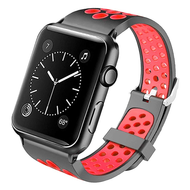 *Sale* Perforated Sport Band Watch Strap for Apple Watch 44mm / 42mm - Black Orange