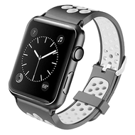 *Sale* Perforated Sport Band Watch Strap for Apple Watch 44mm / 42mm - Black White