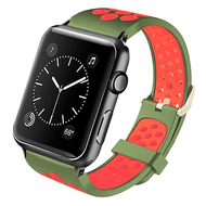 *Sale* Perforated Sport Band Watch Strap for Apple Watch 44mm / 42mm - Green Orange