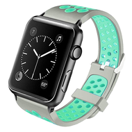 Perforated Sport Band Watch Strap for Apple Watch 44mm / 42mm - Grey Baby Blue
