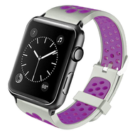 *Sale* Perforated Sport Band Watch Strap for Apple Watch 44mm / 42mm - Grey Purple