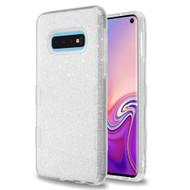Tuff Full Glitter Hybrid Protective Case for Samsung Galaxy S10e - Silver