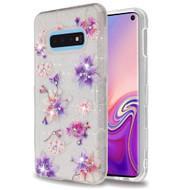 Tuff Full Glitter Diamond Hybrid Protective Case for Samsung Galaxy S10e - Purple Stargazers