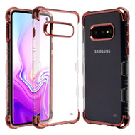 *Sale* TUFF Klarity Lux Electroplating Transparent Anti-Shock TPU Case for Samsung Galaxy S10e - Rose Gold