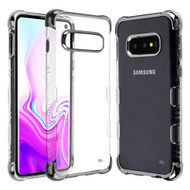 TUFF Klarity Lux Electroplating Transparent Anti-Shock TPU Case for Samsung Galaxy S10e - Silver