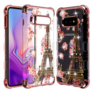 TUFF Klarity Lux Diamond Electroplating Transparent TPU Case for Samsung Galaxy S10e - Paris in Full Bloom