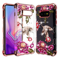 TUFF Klarity Lux Diamond Electroplating Transparent Anti-Shock TPU Case for Samsung Galaxy S10e - Crane
