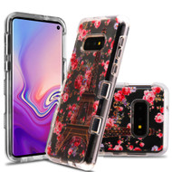 *Sale* Military Grade Certified TUFF Lucid Transparent Hybrid Armor Case for Samsung Galaxy S10e - Paris in Full Bloom