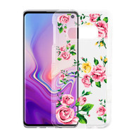 Military Grade Certified TUFF Lucid Transparent Hybrid Armor Case for Samsung Galaxy S10e - Pink Rose