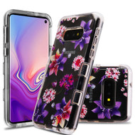 Military Grade Certified TUFF Lucid Transparent Hybrid Armor Case for Samsung Galaxy S10e - Purple Stargazer