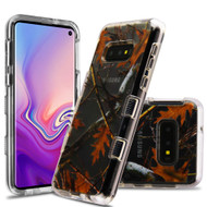 Military Grade Certified TUFF Lucid Transparent Hybrid Armor Case for Samsung Galaxy S10e - Oak