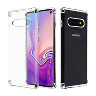 *Sale* Klarion Crystal Clear Tough Case for Samsung Galaxy S10 - Silver