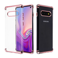 Klarion Crystal Clear Tough Case for Samsung Galaxy S10 - Rose Gold