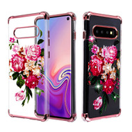 *Sale* Klarion Crystal Clear Diamond Tough Case for Samsung Galaxy S10 - Pink Peony