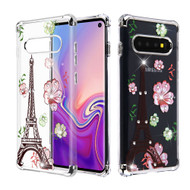 *Sale* Klarion Crystal Clear Diamond Tough Case for Samsung Galaxy S10 - Eiffel Tower