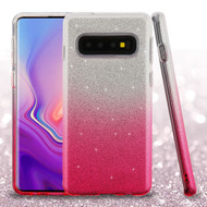 Full Glitter Hybrid Protective Case for Samsung Galaxy S10 - Gradient Pink