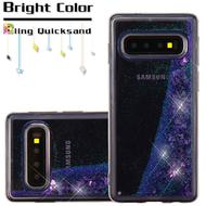 Quicksand Glitter Transparent Case for Samsung Galaxy S10 - Purple