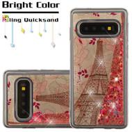 Quicksand Glitter Transparent Case for Samsung Galaxy S10 - Eiffel Tower
