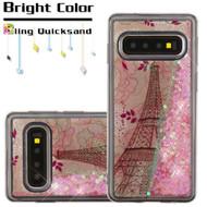 Quicksand Glitter Transparent Case for Samsung Galaxy S10 - Eiffel Tower 014