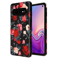 Fuse Slim Armor Hybrid Case for Samsung Galaxy S10 - Red and white Roses